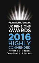 Highly commended actuarial / pensions consultancy of the year